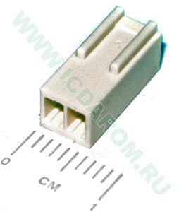 HU-02 гнездо питания на кабель 2,54 мм (DS1070-2FCV)