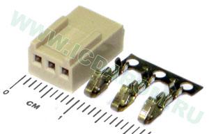 HU-03 разъем питания 2,54 мм на кабель